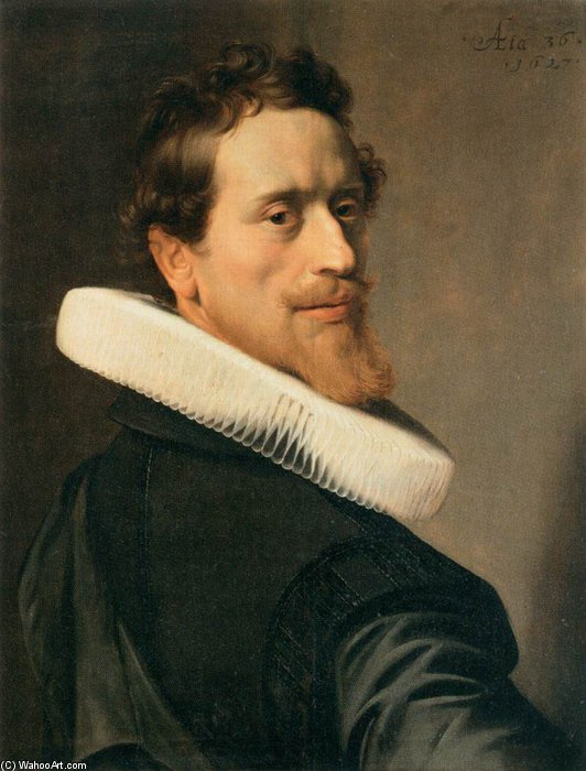 Buy Museum Art Reproductions | Self-portrait At The Age Of Thirty-six by Nicolaes Eliasz Pickenoy (1588-1650, Netherlands) | WahooArt.com