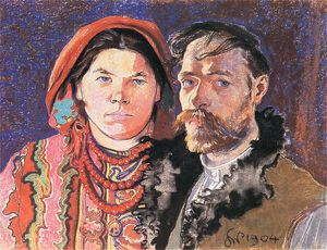 Stanislaw Wyspianski - Portrait Of The Artist And His Wife