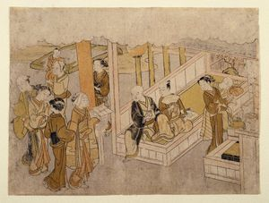 Suzuki Harunobu - The Meeting Together From The Marriage Ceremonies