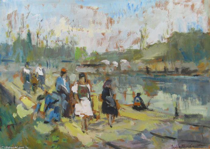 By The River by Thalia Flora Karavia (1871-1960, Greece) | Famous Paintings Reproductions | WahooArt.com