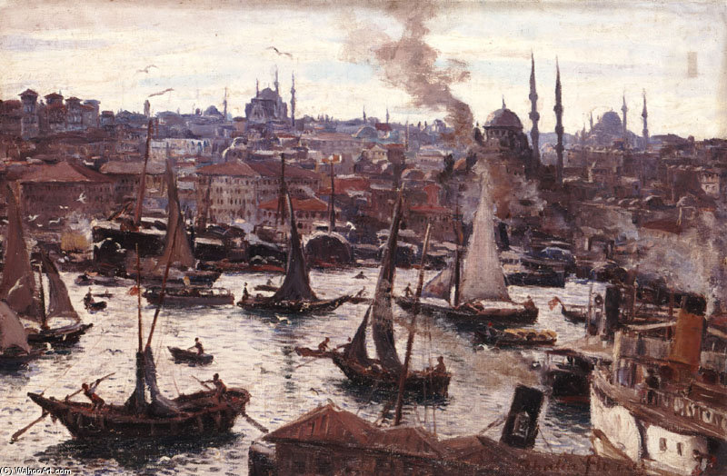 Constantinople by Thalia Flora Karavia (1871-1960, Greece) | Museum Quality Reproductions | WahooArt.com