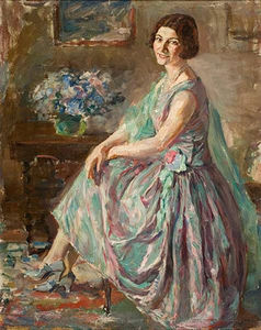 Thalia Flora Karavia - Lady In An Interior