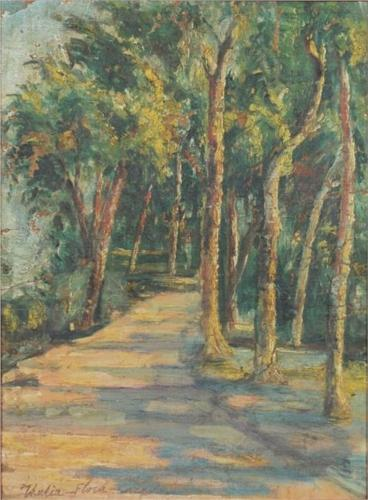 Path In The Forest by Thalia Flora Karavia (1871-1960, Greece) | Painting Copy | WahooArt.com