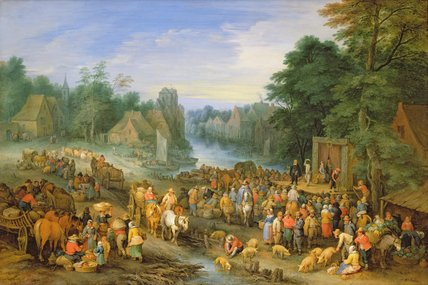 The Village Fair, After, 1710 by Theobald Michau (1676-1765, Belgium) | Art Reproduction | WahooArt.com