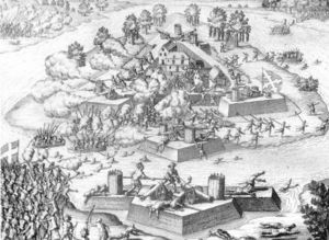 Theodore De Bry - Engraving Of The Massacre At Fort Caroline
