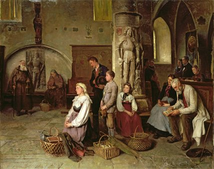 In The Church by Theodore Gerard (1829-1895, Belgium) | Museum Quality Reproductions | WahooArt.com