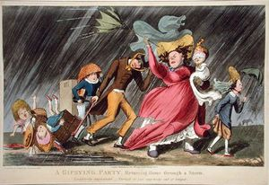 Theodore Lane - A Gipsying Party Returning Home Through A Storm