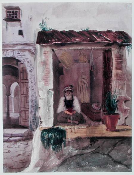 A Tobacconist, Algiers by Theodore Leblanc (1800-1837) | Museum Quality Copies Theodore Leblanc | WahooArt.com