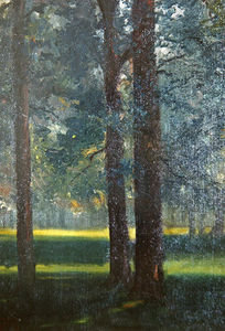 Théodore Casimir Roussel - A Wood In Autumn, The Last Ray