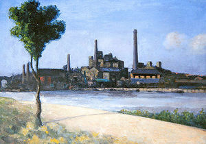 Theodore Roussel - River With Factories