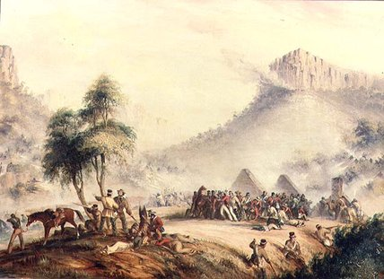Col. Yarborough's Patrol Attacked In Waterkloof by Thomas Baines (1820-1875, United Kingdom)