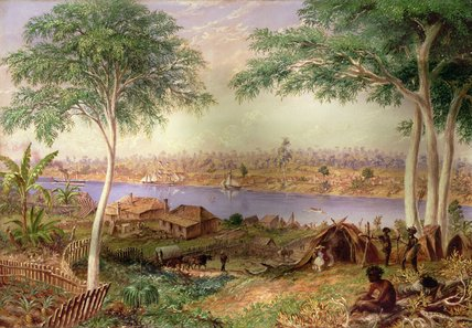 South Brisbane From The North Shore by Thomas Baines (1820-1875, United Kingdom)