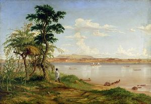 Thomas Baines - Town Of Tete From The North Shore Of The Zambesi