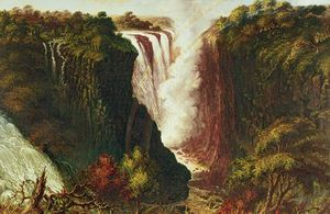 Thomas Baines - Victoria Falls From Western End Of Chasm