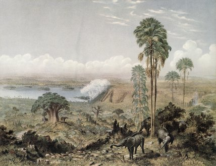 Victoria Falls Of The Zambezi River by Thomas Baines (1820-1875, United Kingdom)