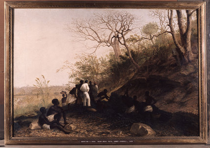 Working A Coal Seam Near Tete by Thomas Baines (1820-1875, United Kingdom)