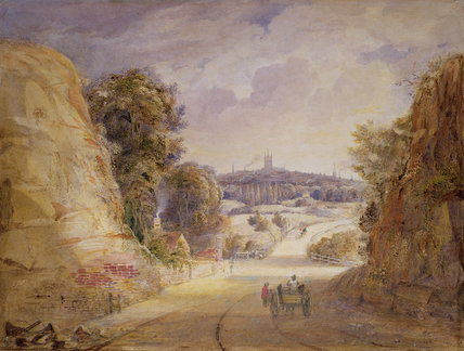 View Of Wolverhampton by Thomas Charles Leeson Rowbotham (1782-1853, United Kingdom)