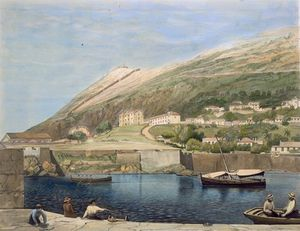 Order Art Reproductions | South Barracks From Rosia Bay, by Thomas Colman Dibdin (1810-1893, United Kingdom) | WahooArt.com