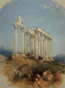 Thomas Creswick - The Temple Of Jupiter Olympius, Athens