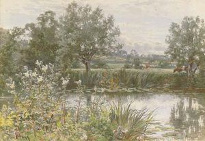 Thomas Henry Hunn - A Peaceful Stretch Of The River