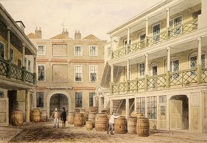 Thomas Hosmer Shepherd - The Bell Inn, Aldersgate Street