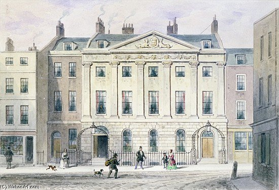 The East Front Of Skinners by Thomas Hosmer Shepherd (1792-1864, United Kingdom)