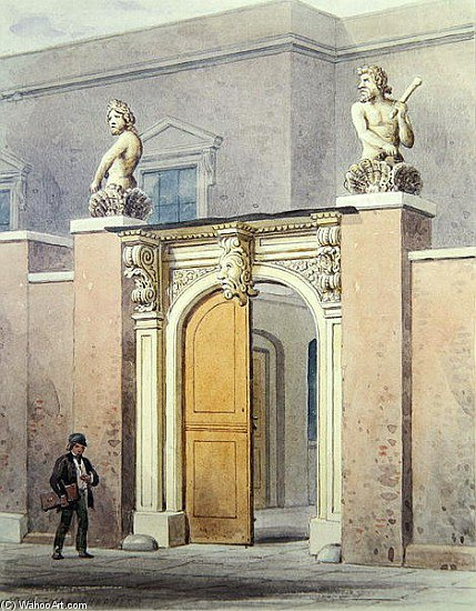 The Entrance To Joiners by Thomas Hosmer Shepherd (1792-1864, United Kingdom) | WahooArt.com