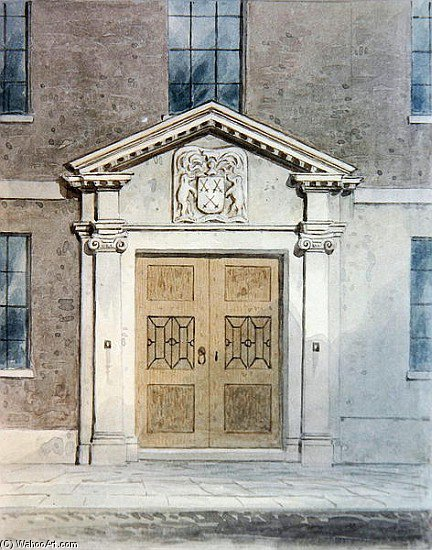The Entrance To The Cutlers Old Hall by Thomas Hosmer Shepherd (1792-1864, United Kingdom) | Oil Painting | WahooArt.com