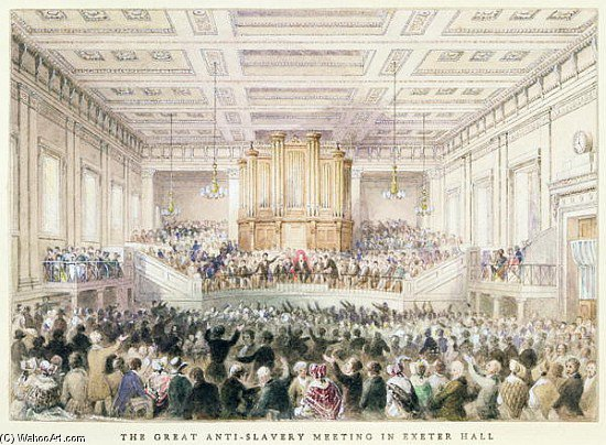 The Great Anti-slavery Meeting Of At Exeter Hall by Thomas Hosmer Shepherd (1792-1864, United Kingdom)