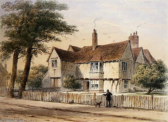 The Rectorial House by Thomas Hosmer Shepherd (1792-1864, United Kingdom)
