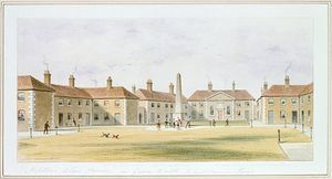 Thomas Hosmer Shepherd - View Of Charles Hopton--s Alms Houses