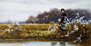 Thomas James Lloyd - Picking Primroses