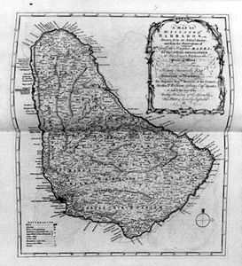 Thomas Jefferys - Map Of Barbados