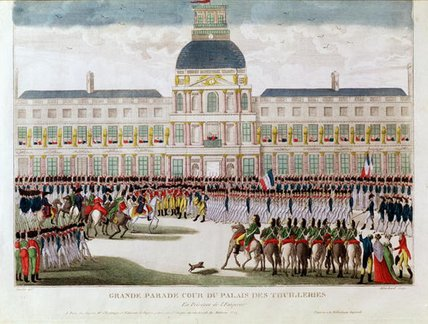 Parade In The Courtyard Of The Palais Des Tuileries by Thomas Naudet (1773-1810)