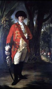 Order Oil Painting : Portrait Of Major-general Horton Briscoe , The Meritorious Officer, 1741 by Tilly Kettle (1735-1786, United Kingdom) | WahooArt.com