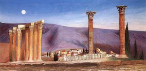 Tivadar Kosztka Csontváry - Ruins Of The Jupiter Temple In Athens