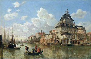 Valentin Ruths - The Boat House At Hamburg Harbour -