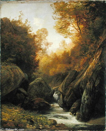 Order Museum Quality Reproductions : Woodland Spring by Valentin Ruths (1825-1905, Germany) | WahooArt.com