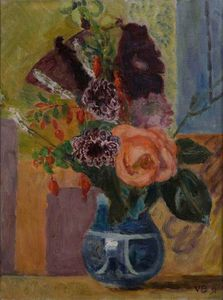 Vanessa Bell - Flowers In A Blue Vase