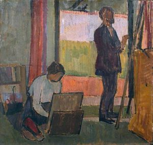 Vanessa Bell - Frederick And Jessie Etchells Painting