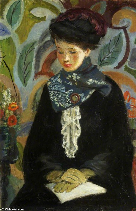 Lady With A Book by Vanessa Bell (1879-1961, United Kingdom) |  | WahooArt.com