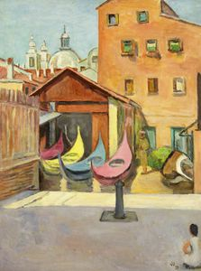 Vanessa Bell - The Boat Painter-s Yard