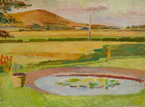 Vanessa Bell - The Pond, Monk-s House Garden, Rodmell