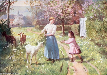 Easter Eggs In The Country by Victor Gabriel Gilbert (1847-1933, France)
