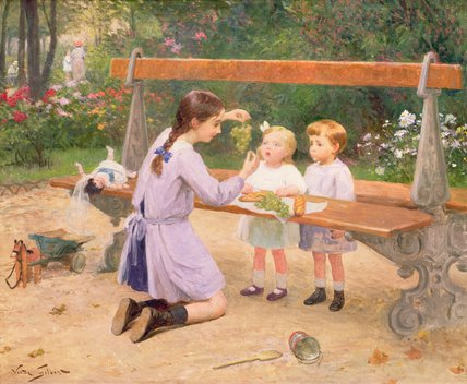 Grape Tasting by Victor Gabriel Gilbert (1847-1933, France)