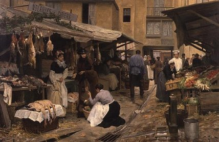 In The Market by Victor Gabriel Gilbert (1847-1933, France)