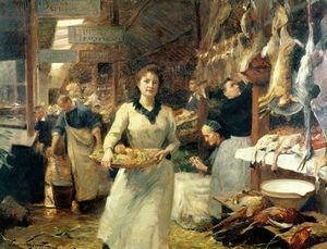 Victor Gabriel Gilbert - The Market Place
