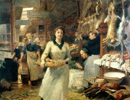 The Market Place by Victor Gabriel Gilbert (1847-1933, France)