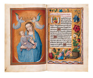 Vincent Clare - Book Of Hours, Use Of Rome, In Latin, Illuminated Manuscript On Vellum