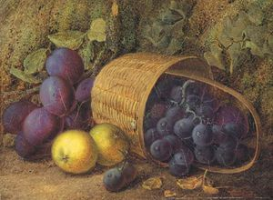 Vincent Clare - Plums And Apples With Grapes